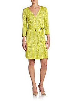 Diane von Furstenberg New Julian Silk Jersey Wrap Dress