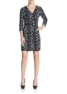 Diane von Furstenberg New Julian Snakeskin-Print Wrap Dress