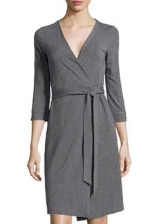 Diane von Furstenberg New Julian Two 3/4-Sleeve Wrap Dress, Nightfall