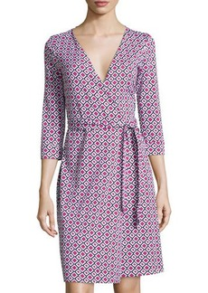 Diane von Furstenberg New Julian Two Check Wrap Dress
