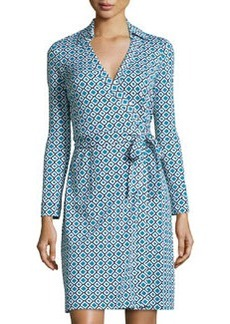 Diane von Furstenberg New Julian Two Check Wrap Dress, Ocean