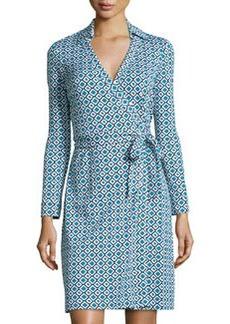 Diane von Furstenberg New Julian Two Check Wrap Dress, Ocean