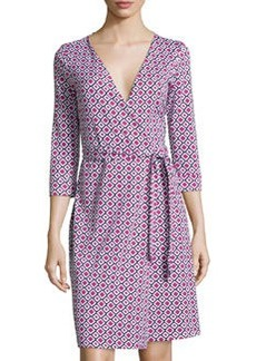 Diane von Furstenberg New Julian Two Check Wrap Dress, Rose