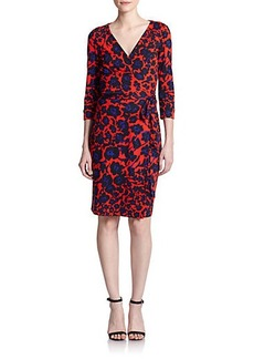 Diane von Furstenberg New Julian Two Floral-Print Silk Wrap Dress