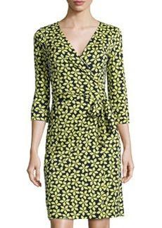 Diane von Furstenberg New Julian Two Floral Wrap Dress, Lime