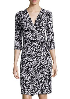 Diane von Furstenberg New Julian Two Halo-Petal Wrap Dress