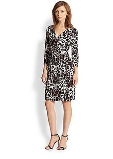 Diane von Furstenberg New Julian Two Leopard-Print Silk Wrap Dress