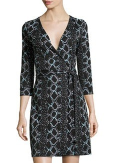 Diane von Furstenberg New Julian Two Mini Wrap Dress, Black
