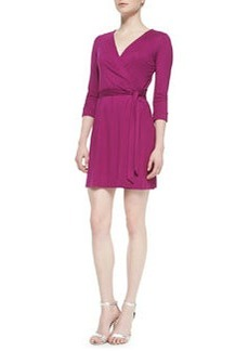 Diane von Furstenberg New Julian Two Mini Wrap Dress, Lotus Berry