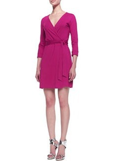 Diane von Furstenberg New Julian Two Mini Wrap Dress, Pink Dahlia