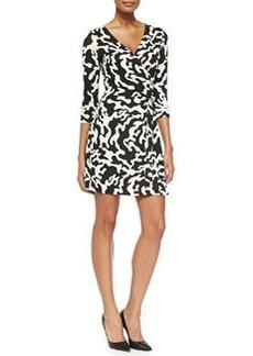 Diane von Furstenberg New Julian Two Printed Mini Wrap Dress