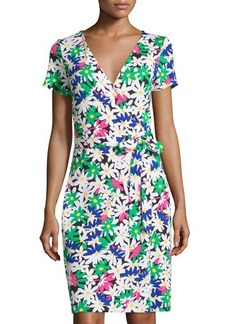 Diane von Furstenberg New Julian Two Short-Sleeve Wrap Dress
