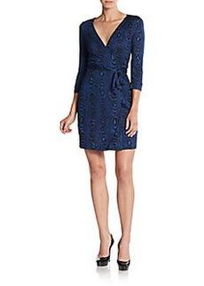 Diane von Furstenberg New Julian Two Silk Mini Wrap Dress