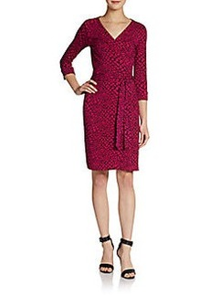 Diane von Furstenberg New Julian Two Snake-Print Jersey Wrap Dress