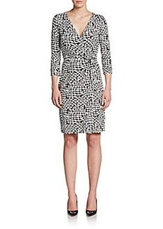 Diane von Furstenberg New Julian Two Star Print Wrap Dress