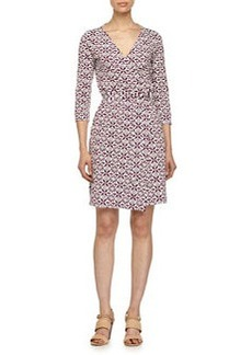 Diane von Furstenberg New Julian Two Wrap Mini Dress, Moroccan Floral/Elderberry