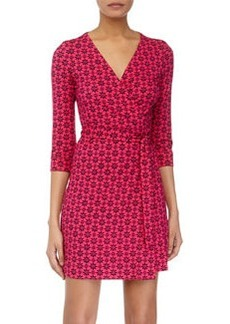 Diane von Furstenberg New Julian Two Wrap Mini Dress, Moroccan Floral/Jazzberry