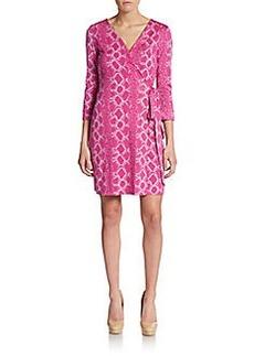 Diane von Furstenberg New Julian Snakeskin-Print Wrap Dress