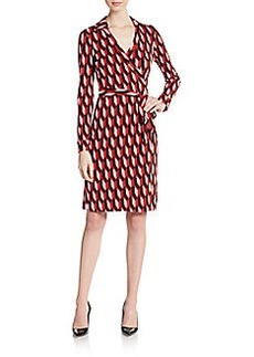 Diane von Furstenberg New Julian Wrap Geo Dress