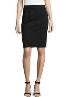 Diane von Furstenberg New Koto Ponte Pencil Skirt, Black