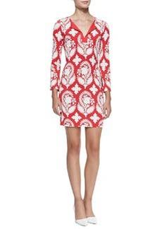 Diane von Furstenberg New Reina Two Printed Silk Dress