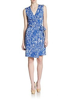 Diane von Furstenberg New Yahzi Printed Short Wrap Dress