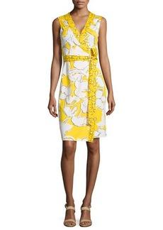 Diane von Furstenberg New Yahzi Printed Silk Wrap Dress