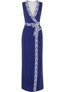 Diane von Furstenberg New Yahzi printed stretch-jersey wrap maxi dress