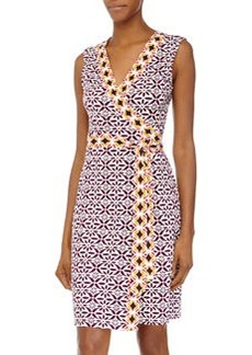 Diane von Furstenberg New Yahzi Printed Wrap Dress, Moroccan Floral Elderberry