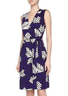 Diane von Furstenberg New Yahzi Printed Wrap Dress, Purple