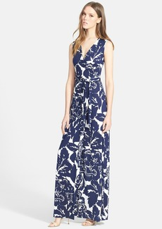 Diane von Furstenberg 'New Yahzi Two' Print Silk Wrap Maxi Dress