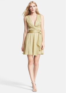 Diane von Furstenberg 'Nina' Metallic Wrap Dress