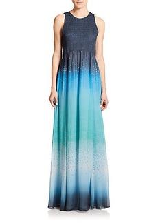 Diane von Furstenberg Nirvana Printed Silk Maxi Dress