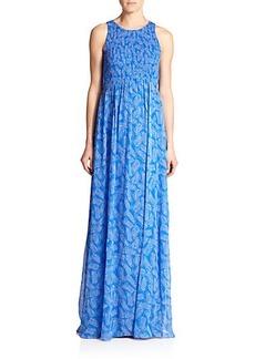 Diane von Furstenberg Nirvana Silk Maxi Dress
