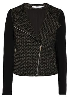 Diane von Furstenberg Noni crepe-paneled wool-blend jacket