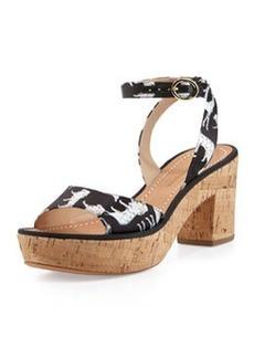 Diane von Furstenberg Odelia Too Jungle Print Sandal