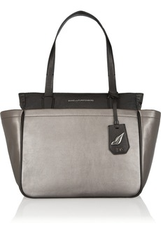 Diane von Furstenberg On The Go metallic leather tote