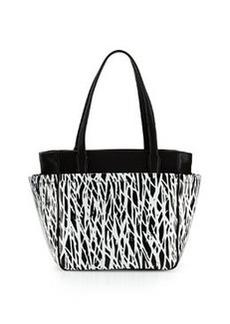 Diane von Furstenberg On The Go Printed Tote Bag, Black/White