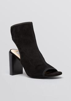 DIANE von FURSTENBERG Open Toe Platform Booties - Panina High Heel