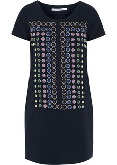 Diane von Furstenberg Owen bead-embellished crepe mini dress