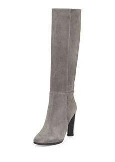 Diane von Furstenberg Pagri Suede Over-the-Knee Boot, Gray