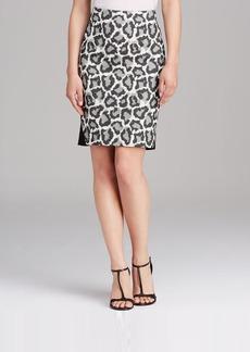 DIANE von FURSTENBERG Pencil Skirt - Emma Leopard