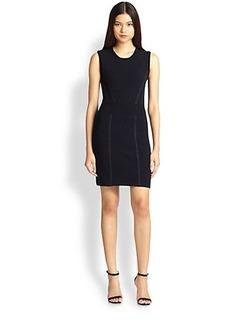Diane von Furstenberg Perforated-Back Knit Body-Con Dress