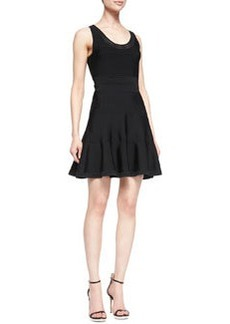 Diane von Furstenberg Perry Sleeveless Fit-and-Flare Dress, Black