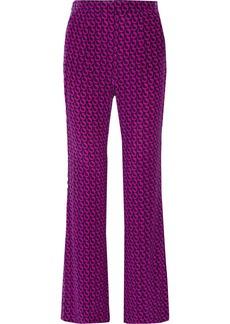 Diane von Furstenberg Petunia printed silk wide-leg pants
