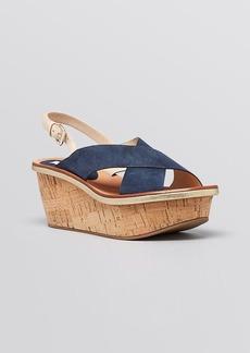DIANE von FURSTENBERG Platform Wedge Sandals - Maven