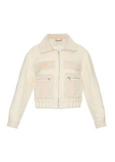 Diane Von Furstenberg Plush bomber jacket
