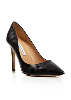 DIANE von FURSTENBERG Pointed Toe Pumps - Bethany Grid High Heel
