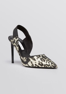 DIANE von FURSTENBERG Pointed Toe Slingback Pumps - Blaire High Heel
