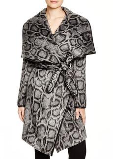DIANE von FURSTENBERG Polly Leopard Print Wrap Coat